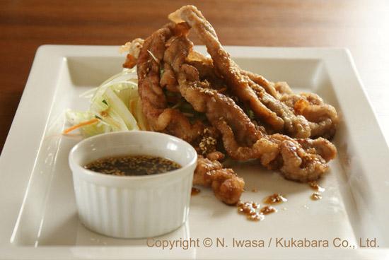 ユーカリはちみつレシピ豚肉の唐揚げ、サラダ風1