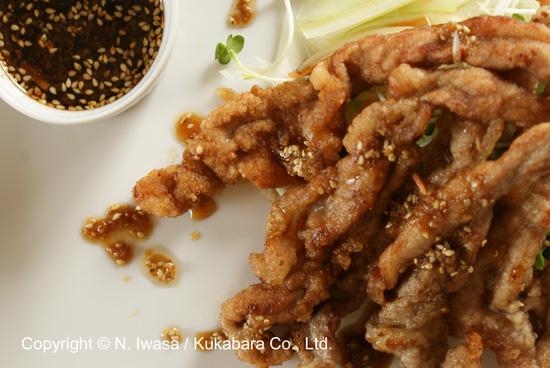 ユーカリはちみつレシピ豚肉の唐揚げ、サラダ風2