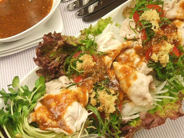蜂蜜レシピはちみつダレで食べる豚しゃぶサラダ1