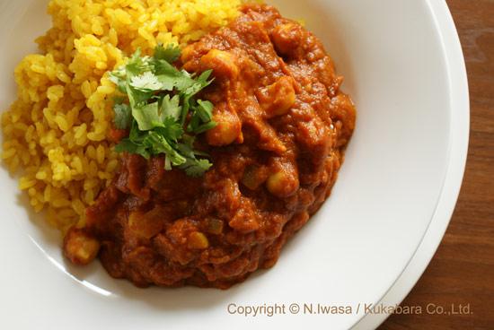 ユーカリはちみつレシピ「ひよこ豆のカレー」1