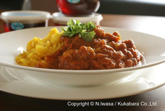 ユーカリはちみつレシピ「ひよこ豆のカレー」3