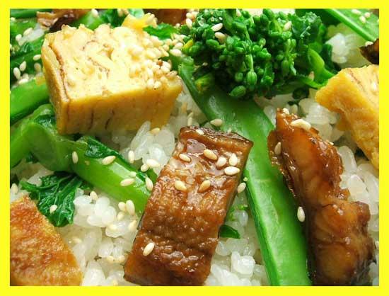 ミタミタユーカリはちみつももの節句のちらし寿司2