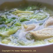 はちみつ料理教室2019年12月c白菜と手羽中のスープ