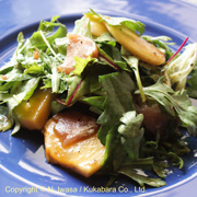 はちみつ料理教室2020年10月cグリーンと柿のサラダ