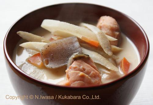 ミタミタのはちみつレシピ「粕汁」1
