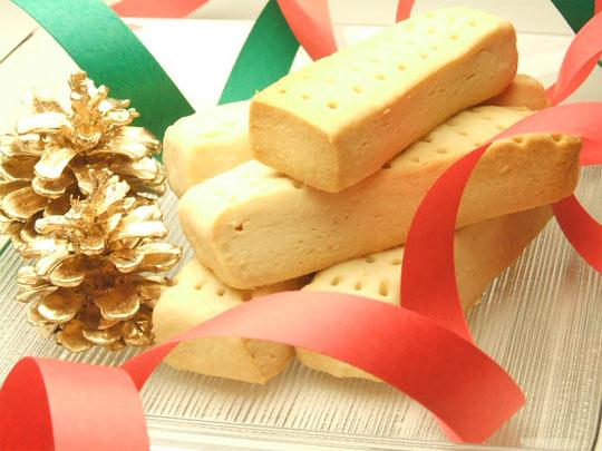 はちみつを使ったアイデア色々クリスマスのお菓子ショートブレッド4