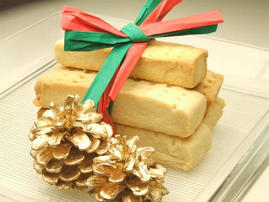 はちみつを使ったアイデア色々クリスマスのお菓子ショートブレッド5